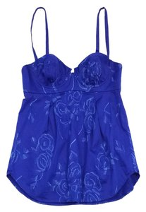 Rebecca Taylor Blue Floral Embroidered Top