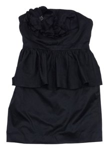 Lilly Pulitzer short dress Black Peplum Strapless on Tradesy