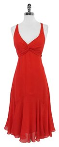 Ted Baker Red Criss Cross Silk Dress