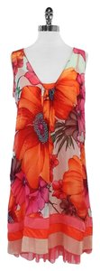 Rozae Nichols short dress Pink Orange Floral Print on Tradesy