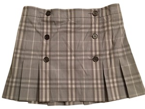 Burberry Brit Mini Skirt Pale Gray