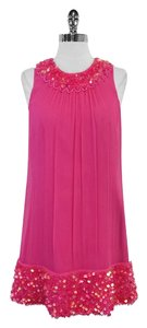 Betsey Johnson short dress Pink Silk Sequin Bead on Tradesy