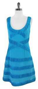 Yoana Baraschi short dress Turquoise Pleated Striped on Tradesy