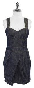 Karen Millen short dress Dark Denim Open Back on Tradesy