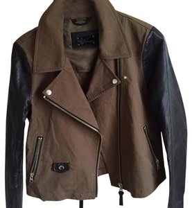 Mackage Black, brown Leather Jacket