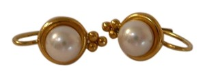 Temple St Clair Temple St Clair 22k Gold Vintage Pearl Earrings