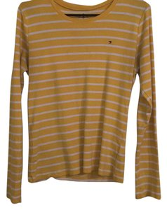 Tommy Hilfiger T Shirt Yellow w Whote Stripes
