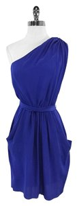 Rebecca Taylor short dress Blue Silk One on Tradesy