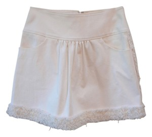 Oscar de la Renta Chanel Prada Le Mini Skirt White