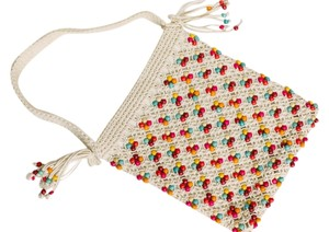 Hollister Knit Boho Beaded Shoulder Bag