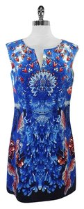 Laundry by Shelli Segal short dress Blue & Red Butterfly Heart Print on Tradesy