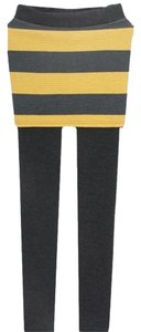 other Colorblock Insulated Thermal grey and mustard Leggings