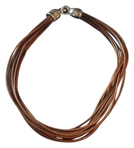 Simon Sebbag Multi strand Leather Necklace