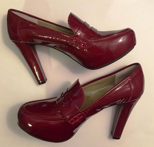 Me Too Loafer Patent Loafers Patent Candy Apple Red Platforms Image 1