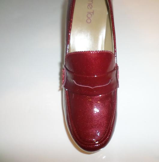 Me Too Loafer Patent Loafers Patent Candy Apple Red Platforms Image 2