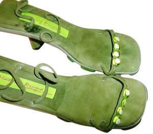 Materia Prima By Goffredo Fantini Green with flower Sandals