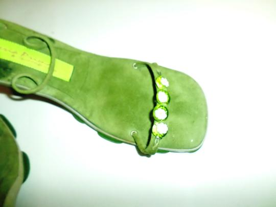 Materia Prima By Goffredo Fantini Green with flower Sandals Image 2