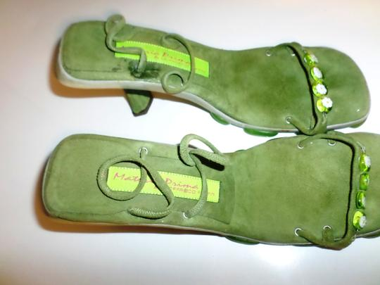 Materia Prima By Goffredo Fantini Green with flower Sandals Image 3