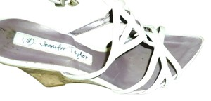 Jennifer Taylor Wedge Sandal Shoe Heel White Wedges