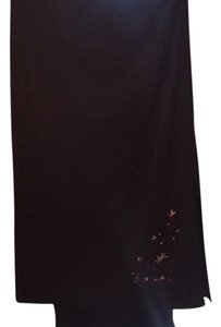 Lane Bryant Skirt Black with design