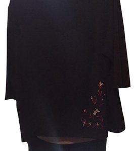 Lane Bryant Top Black with design
