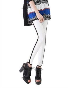 other Stripe Piping Side Detail black and white Leggings