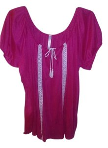 Bobbie Brooks Top Pink with white accents