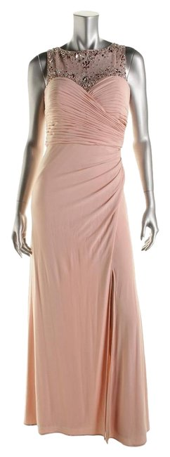 Item - Pink Womens Embellished A Line Full Length Long Formal Dress Size 6 (S)