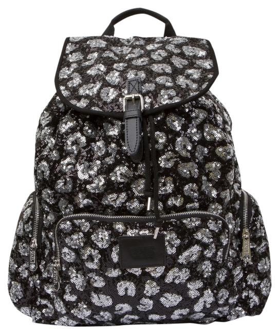 Item - Bling Black Leopard/Cheetah Large Multi-colored Cotton Canvas Backpack