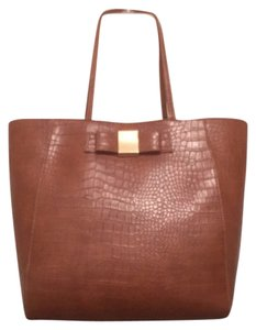 Ivanka Trump Faux Leather New Nwt Satchel Tote in Brown