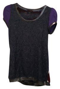 Gustto T Shirt Navy and purple