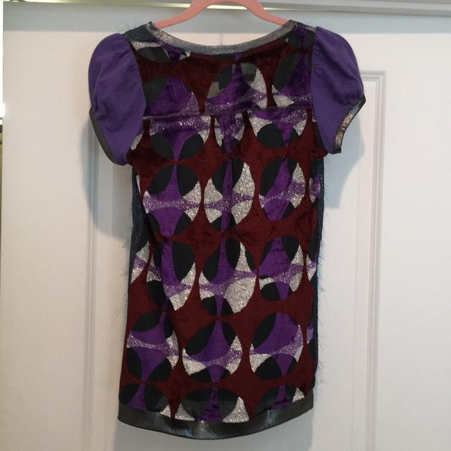 Gustto T Shirt Navy and purple Image 3
