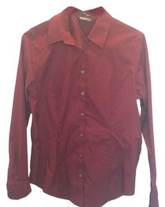 Eddie Bauer Button Down Shirt Maroon