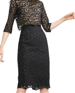 Zara Pencil Lace Skirt Black