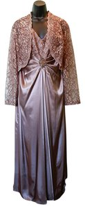 Patra Gown Lace Jacket Sleeveless Satin & Lace Dress