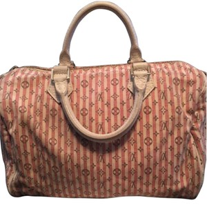 Louis Vuitton Mini Lin Monogram Speedy Neverfull Satchel in pink grey ivory
