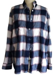 Madewell Button Down Shirt Blue