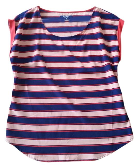 Old Navy Coral Peach Royal Tunic Top Striped