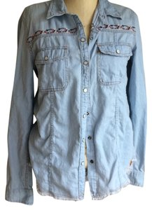 Roxy Button Down Shirt Denim