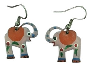 Anthropologie Pink Elephant Earrings