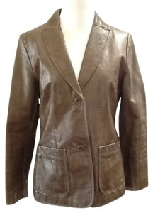 Gap Leather New Casual Green Blazer