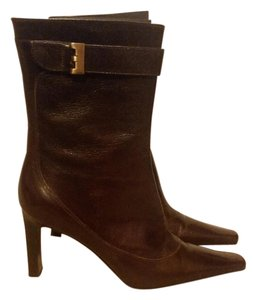 Via Spiga Leather Made In Italy Brown Boots