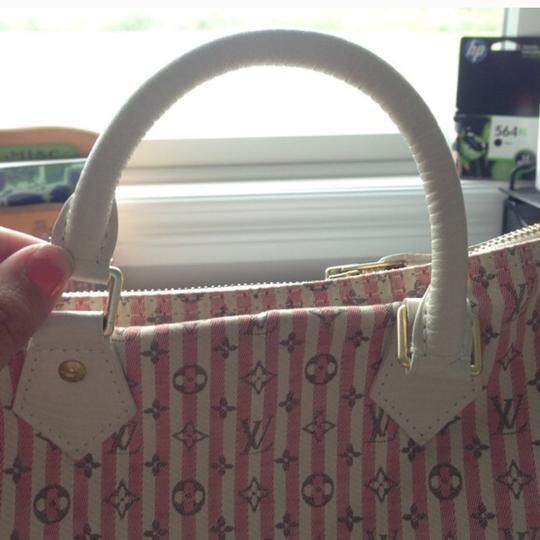 Louis Vuitton Satchel in White And Pink Image 1