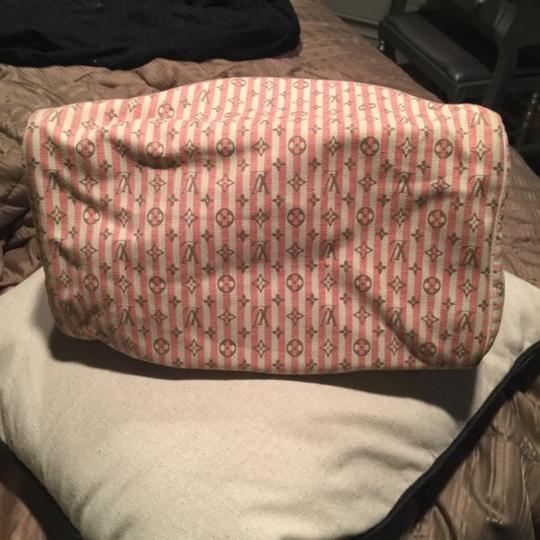 Louis Vuitton Satchel in White And Pink Image 3