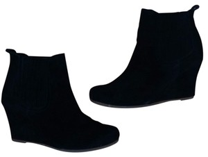 Dolce Vita Wedge Suede Bootie Black Boots