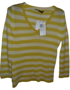 BCBGMAXAZRIA Cashmere Stripe Summer Sheer Sweater