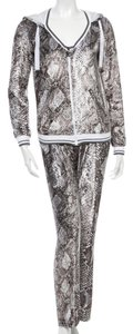 Grey, Black, Silver Maxi Dress by Roberto Cavalli Animal Print Trackisuit