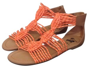 Sam Edelman Crochet orange Sandals