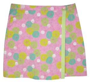 Lilly Pulitzer Skort Cotton Wrap Mini Floral Mini Skirt