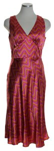 Laundry by Shelli Segal short dress Orange Multi 100% Silk Wavy Print on Tradesy